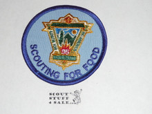 95th BSA Anniversary Patch, Scouting for Food