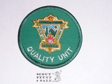 95th BSA Anniversary Patch, Quality Unit, Green Twill