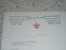 Great Western Council, 1974 Letter on Council Stationary #2
