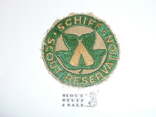 Schiff Scout Reservation, Twill Patch Cut to Round, Light Color, Fine Twill