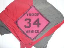 Crescent Bay Area Council, Venice Troop 34 Neckerchief, Used With Some Neckerchief Fade