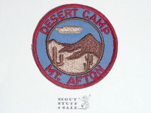 Crescent Bay Area Council, Desert Camp Mount Afton Patch