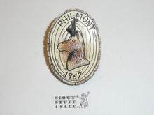 Philmont Scout Ranch Plaster Neckerchief Slide, 1967 Pronghorn Sheep