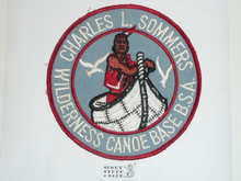 Charles L. Sommers Wilderness Canoe Base Jacket Patch, BSA Bottom, Sewn