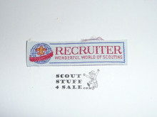 Woven Recruiter Patch