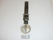 Silver Boy Scout Watch Fob, Saluting Scout