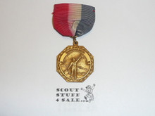 Boy Scout Gold Signaling Medal, Ribbon Faded