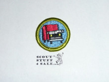 Truck Transportation - Type H - Fully Embroidered Plastic Back Merit Badge (1971-2002)