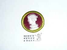Sculpture - Type H - Fully Embroidered Plastic Back Merit Badge (1971-2002)