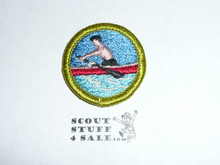 Rowing - Type H - Fully Embroidered Plastic Back Merit Badge (1971-2002)