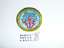 Radio - Type H - Fully Embroidered Plastic Back Merit Badge (1971-2002)