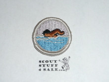 Swimming (Silver bdr) - Type G - Fully Embroidered Cloth Back Merit Badge (1961-1971)
