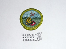 Nature (green bdr) - Type G - Fully Embroidered Cloth Back Merit Badge (1961-1971)