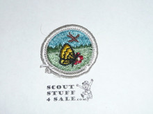 Nature (Silver bdr) - Type G - Fully Embroidered Cloth Back Merit Badge (1961-1971)