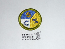 Personal Finances - Type G - Fully Embroidered Cloth Back Merit Badge (1961-1971)