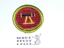 Surveying - Type G - Fully Embroidered Cloth Back Merit Badge (1961-1971)