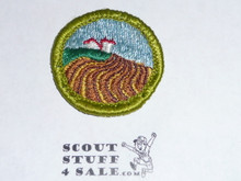 Soil & Water Conservation - Type G - Fully Embroidered Cloth Back Merit Badge (1961-1971)