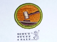 Public Speaking - Type G - Fully Embroidered Cloth Back Merit Badge (1961-1971)