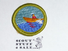 Motorboating - Type G - Fully Embroidered Cloth Back Merit Badge (1961-1971)