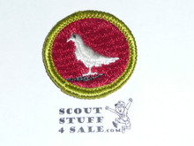 Pigeon Raising - Type G - Fully Embroidered Cloth Back Merit Badge (1961-1971)