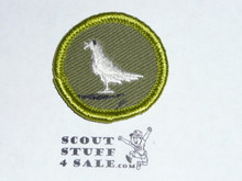 Pigeon Raising - Type F - Rolled Edge Twill Merit Badge (1961-1968)