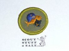Pets - Type F - Rolled Edge Twill Merit Badge (1961-1968)
