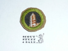 Rocks and Minerals - Type D - Fine Twill Merit Badge (1942-1946)