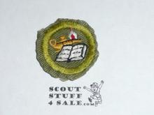Reading - Type E - Khaki Crimped Merit Badge (1947-1960), used