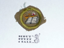 Reading - Type C -  Tan Crimped Merit Badge (1936-1946), used
