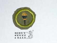 Public Health - Type E - Khaki Crimped Merit Badge (1947-1960)