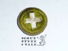 Safety - Type C -  Tan Crimped Merit Badge (1936-1946)