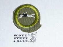 Swimming - Type E - Khaki Crimped Merit Badge (1947-1960)