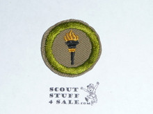 Public Health - Type C -  Tan Crimped Merit Badge (1936-1946)