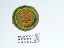 Music - Type C -  Tan Crimped Merit Badge (1936-1946)