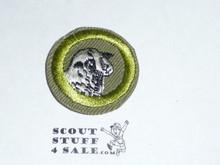 Sheep Farming - Type E - Khaki Crimped Merit Badge (1947-1960)