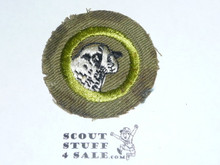 Sheep Farming - Type E - Khaki Crimped Merit Badge (1947-1960)- staining at edge