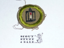 Metalwork - Type C -  Tan Crimped Merit Badge (1936-1946)