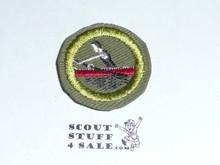 Rowing - Type E - Khaki Crimped Merit Badge (1947-1960)