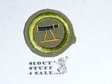 Surveying - Type E - Khaki Crimped Merit Badge (1947-1960)