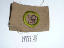 Textiles - Type A - Square Tan Merit Badge (1911-1933)