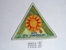 Tamet Order of the Arrow Lodge #225 x3 30th Anniversary Patch, used