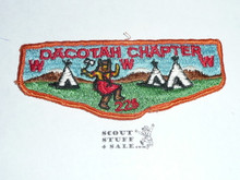 Tamet Order of the Arrow Lodge #225 Dacotah Chapter Flap Patch, used