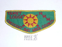 Tamet Order of the Arrow Lodge #225 f1 First Flap Patch