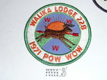 Walika Order of the Arrow Lodge #228 1971 Pow Wow Patch