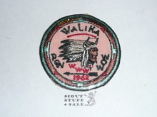 Order of the Arrow Lodge #228 Walika 1962 Pow Wow Patch