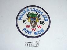 Order of the Arrow Lodge #228 Walika 1968 Pow Wow Patch