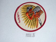 Order of the Arrow Lodge #228 Walika 1953 Pow Wow Patch, twill a bit yellowed