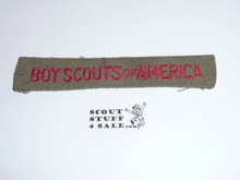 Program Strip - Boy Scouts of America, 1930's, Used #5