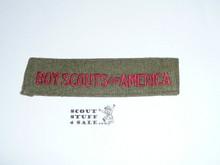 Program Strip - Boy Scouts of America, 1940's, Wool, Lt. Use