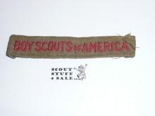 Program Strip - Boy Scouts of America, 1930's, Wool, Used
